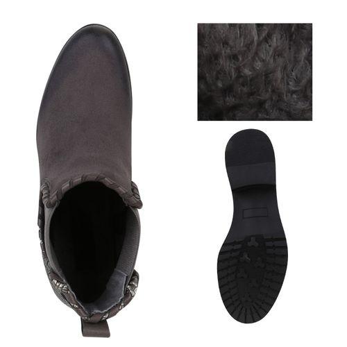 Grau Damen Chelsea Damen Stiefeletten Stiefeletten Boots zZnzqX67w
