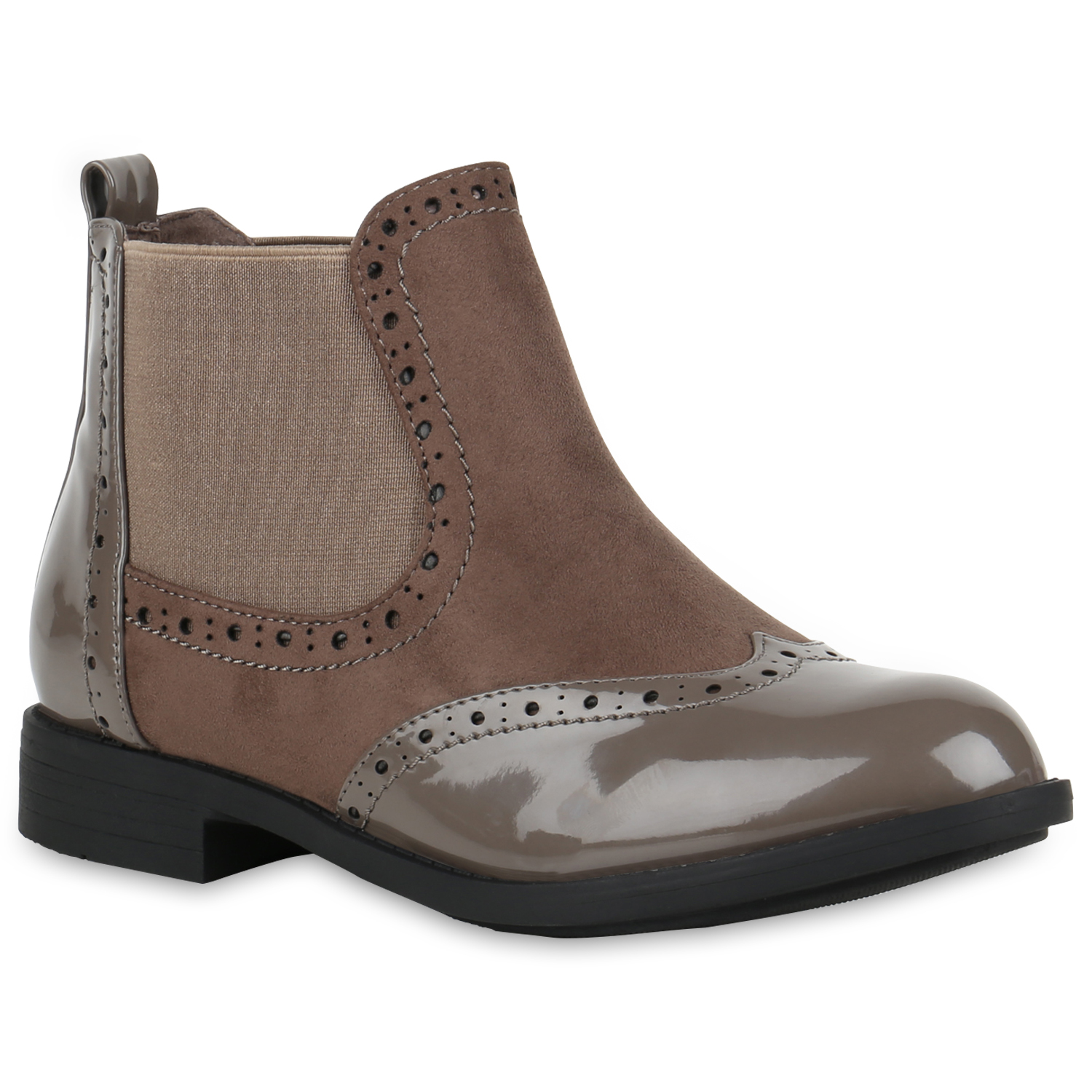 huge selection of f61d3 a99f5 Damen Stiefeletten Chelsea Boots - Taupe