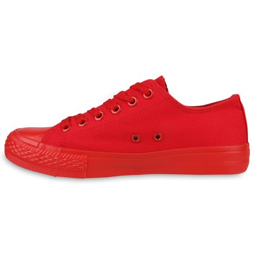 Damen Sneaker Damen Sneaker Rot Low 6wqzUUB5c