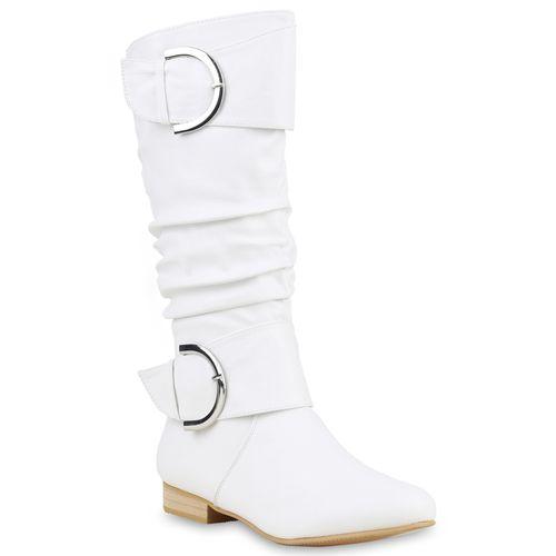 Damen Klassische Stiefel - Weiß