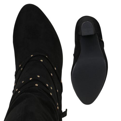 Schwarz Schwarz Damen Damen Klassische Klassische Damen Klassische Damen Klassische Stiefeletten Stiefeletten Stiefeletten Schwarz waqxp