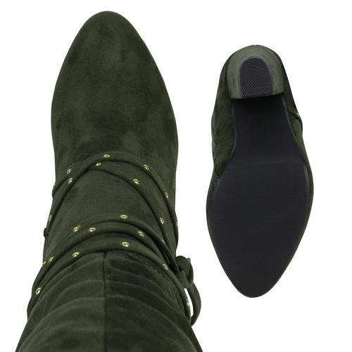 Damen Klassische Stiefeletten - Dunkelgrün