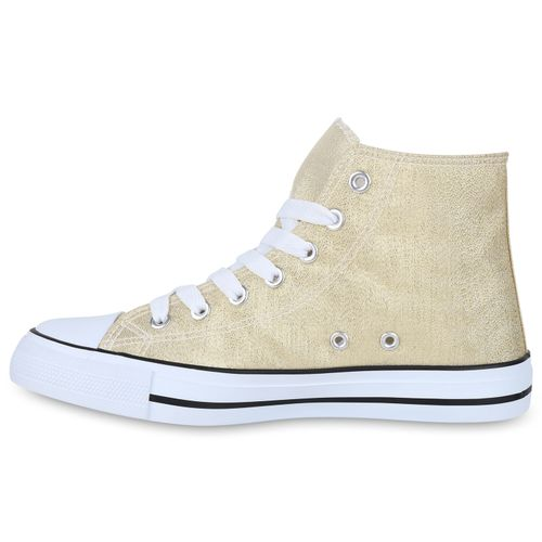 Gold High High Sneaker Damen Sneaker Gold Damen Sneaker High Damen Gold zqWB4AIR