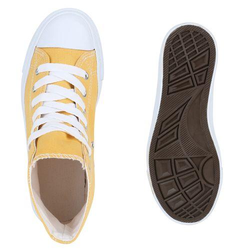 Damen Sneaker high - Gelb