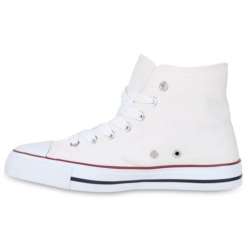 Damen Sneaker high - Weiß Rot