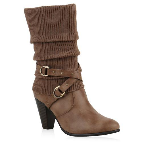 Damen Klassische Stiefel - Khaki