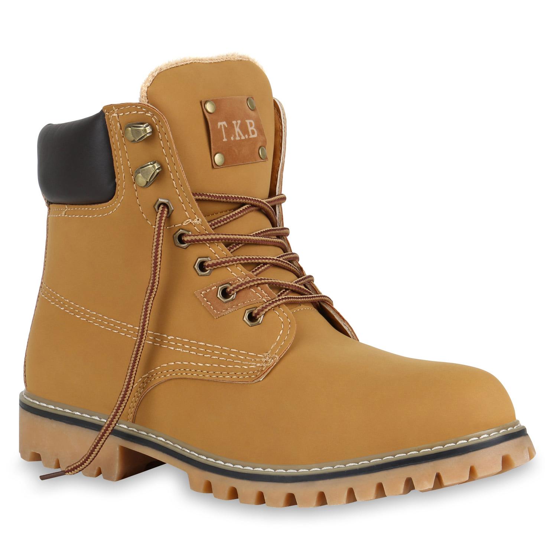 Herren Worker Boots Hellbraun