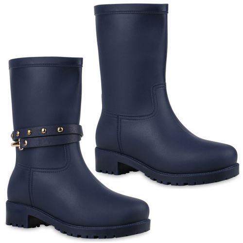 erstklassige Qualität Schuhwerk USA billig verkaufen Damen Stiefel Gummistiefel - Blau