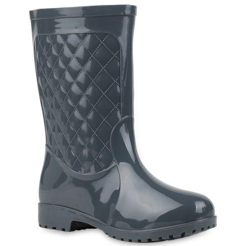 reich und großartig fairer Preis schönes Design Damen Stiefel Gummistiefel - Grau