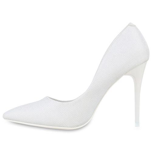 Damen Pumps Spitze Pumps - Weiß