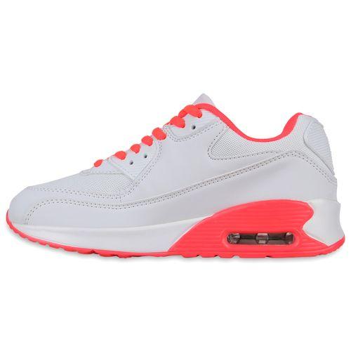 Damen Sportschuhe Laufschuhe - Weiß Coral