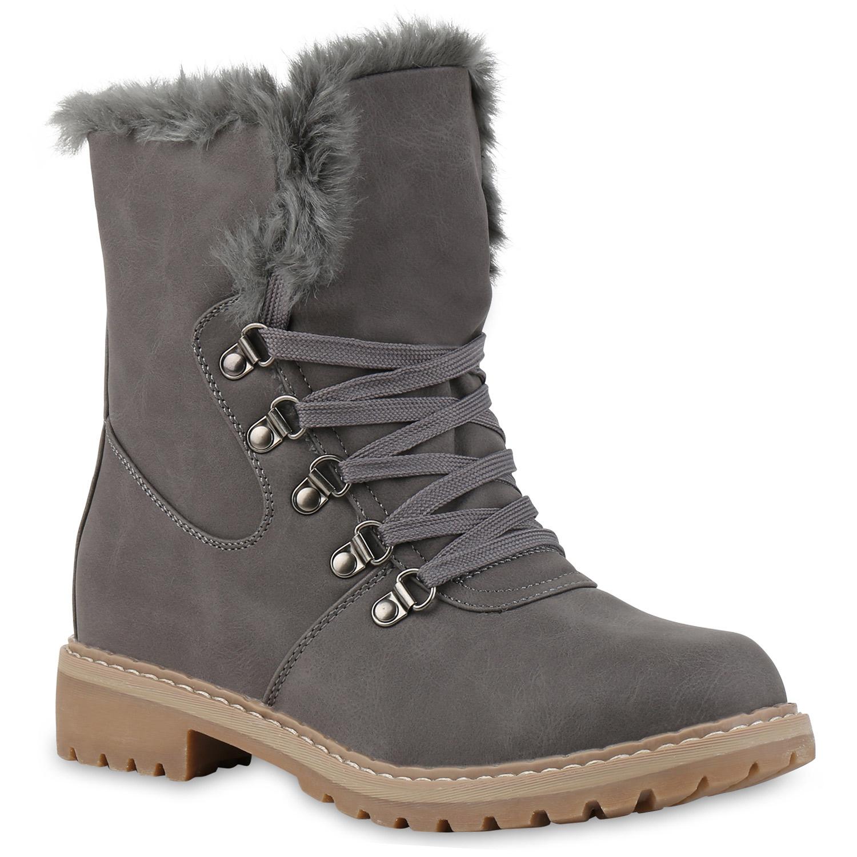 the best attitude 79dd6 56baf Damen Stiefeletten Winter Boots - Grau