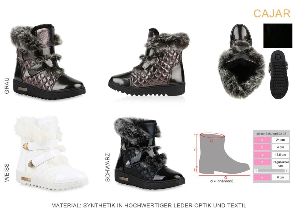 009e9e4a42b8 Winterboots Damen Stiefeletten Fell Warm Gefüttert 813006 Schuhe   eBay