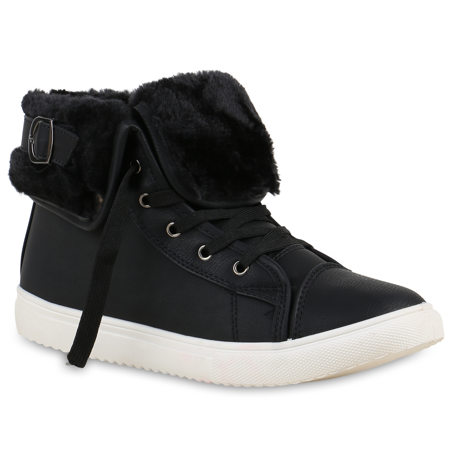Damen Sneaker high - Schwarz