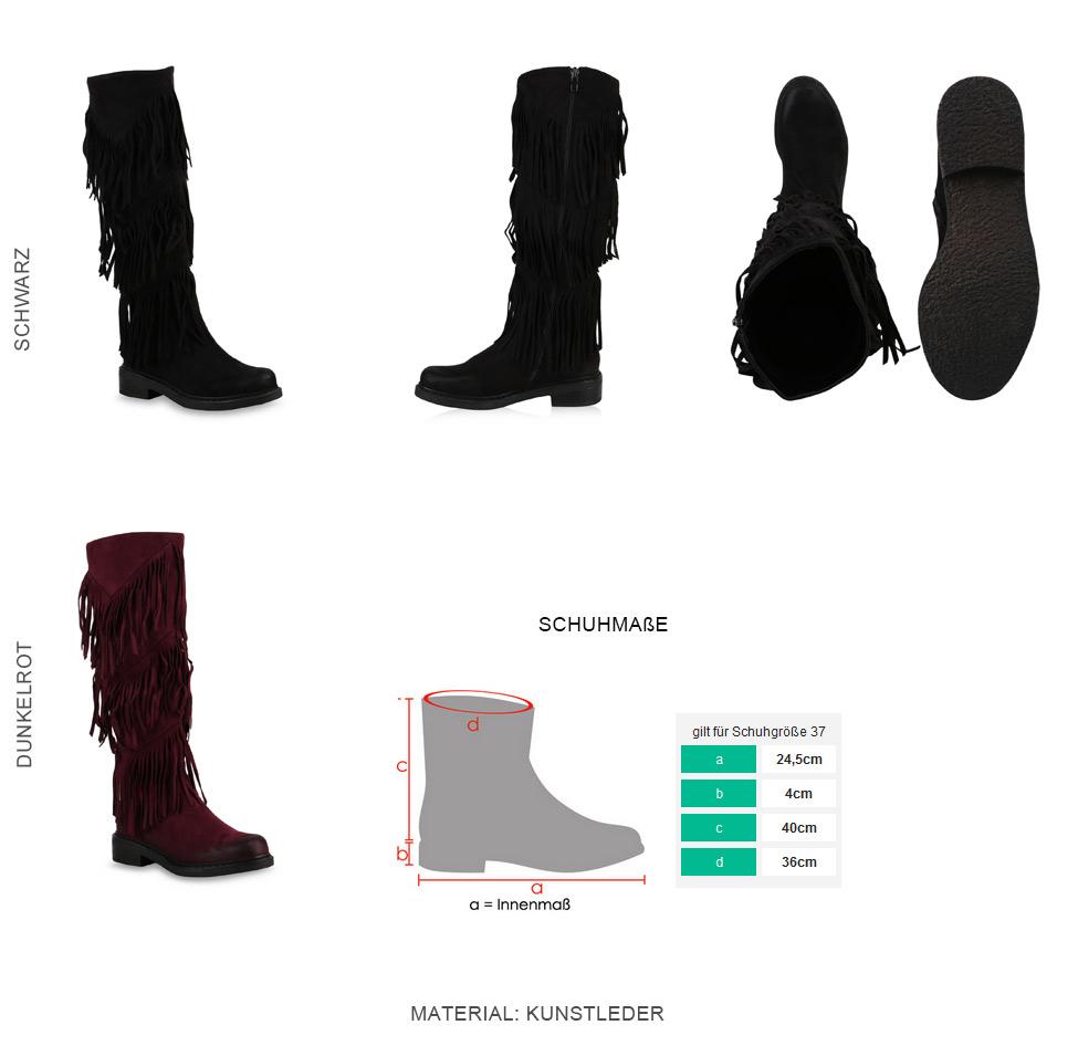 Look Flache Ethno Fransen Zu 813431 Boots Details Mukluks New Schuhe Damen Stiefel 5RLj4A