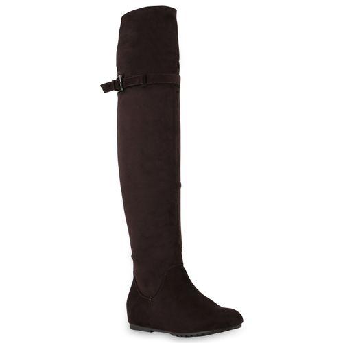 Tiefstpreis außergewöhnliche Auswahl an Stilen riesige Auswahl an Damen Stiefel Overknees - Dunkelbraun