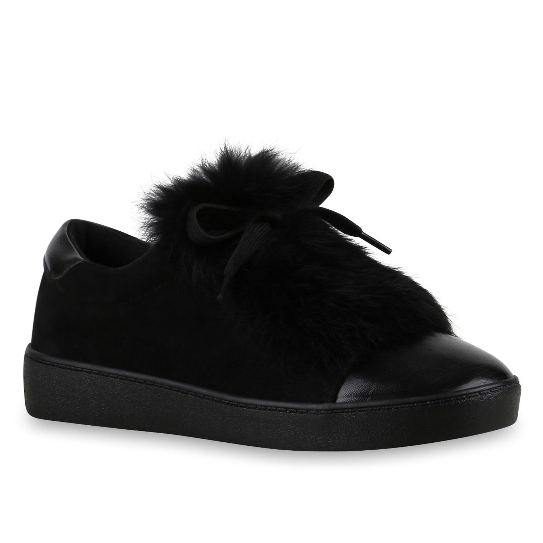 release date: 95db0 81ef4 Damen Sneaker Slip Ons - Schwarz