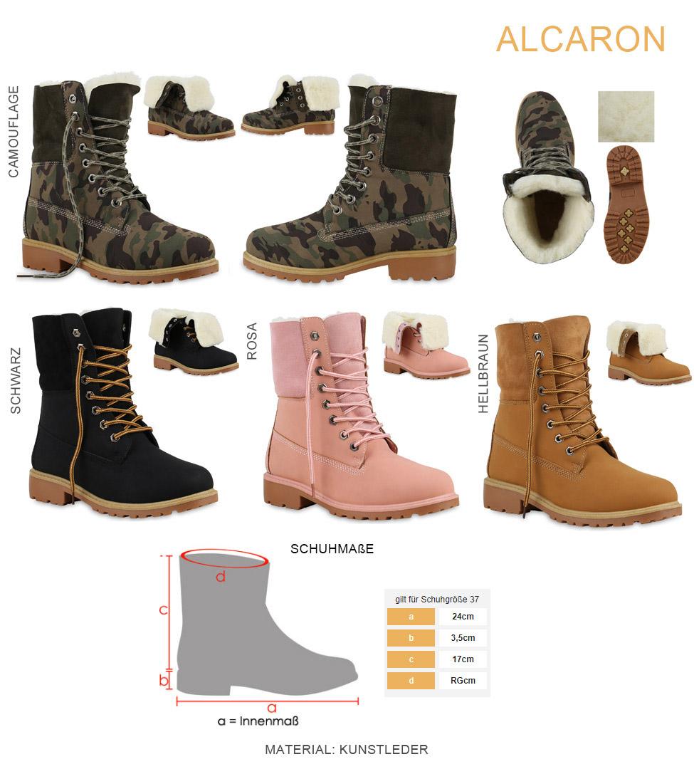 Details zu Warm Gefütterte Damen Stiefeletten Worker Boots Outdoor Schuhe 813745 Trendy