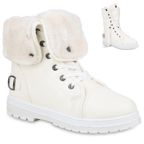 Boots Stiefeletten Worker Weiß Worker Weiß Stiefeletten Boots Damen Damen Stiefeletten Worker Damen Weiß Boots 4qUAw7g