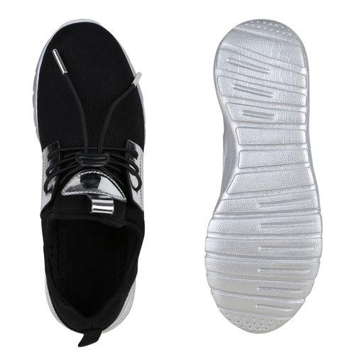 Damen Sportschuhe Laufschuhe - Schwarz Silber