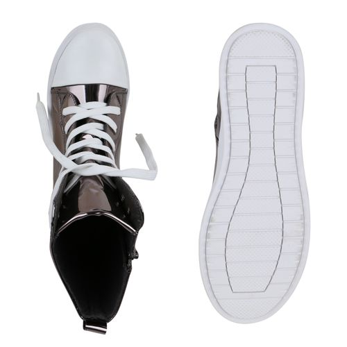 Wedges Damen Sneaker Damen Sneaker Wedges Grau Damen Grau qn8Cwvp