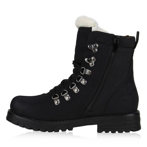 Damen Stiefeletten Outdoor Schuhe - Schwarz