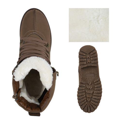 Damen Stiefeletten Outdoor Schuhe - Khaki