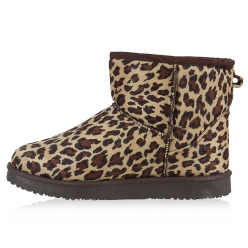 Stiefeletten Schlupfstiefeletten Schlupfstiefeletten Stiefeletten Leopard Stiefeletten Leopard Damen Schlupfstiefeletten Damen Damen Leopard 1Tnxt