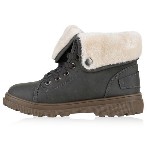 Damen Stiefeletten Winter Boots - Dunkelgrau