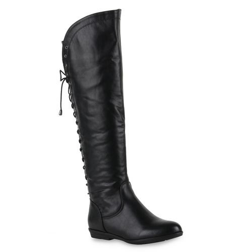 Damen Damen Klassische Klassische Stiefel Schwarz wFB5qxd5