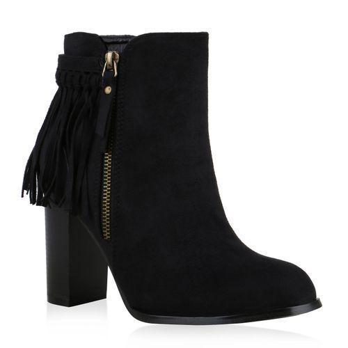 Damen Stiefeletten Ankle Boots - Schwarz
