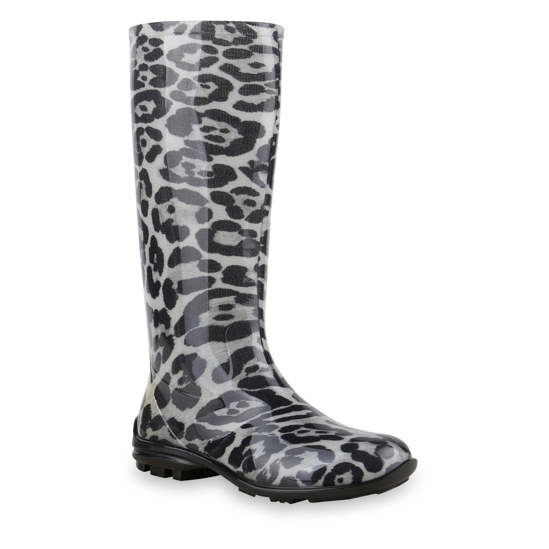 damen stiefel in schwarz leopard 891366 2308. Black Bedroom Furniture Sets. Home Design Ideas