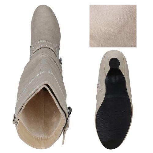 Damen Klassische Stiefel - Creme