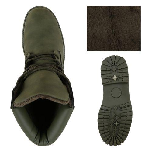 Herren Worker Boots - Dunkelgrün