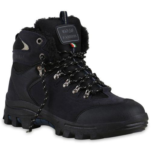 Herren Boots Outdoor Schuhe - Schwarz Blau