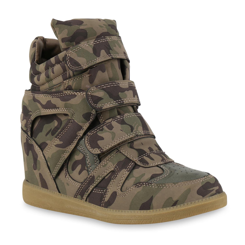 Damen Sneaker Wedges - Camouflage