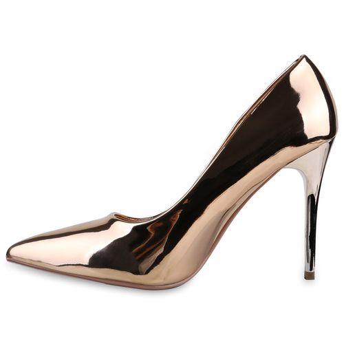 Damen Spitze Pumps - Bronze