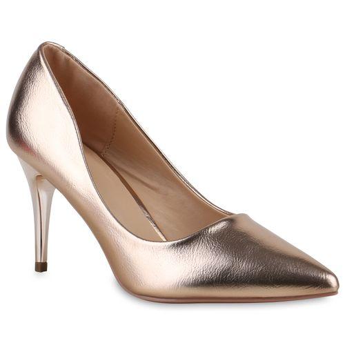 Damen Spitze Pumps - Gold