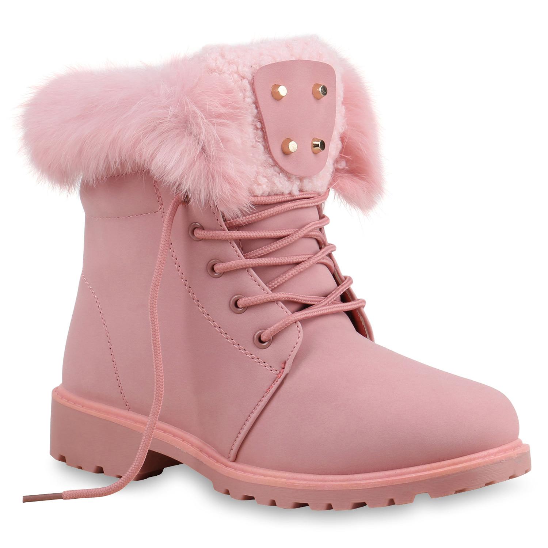 cheap for discount 652c3 74377 Damen Stiefeletten Worker Boots - Rosa