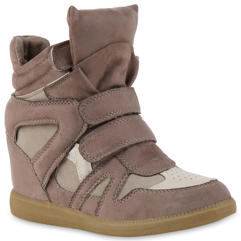 Damen Sneaker Wedges - Khaki