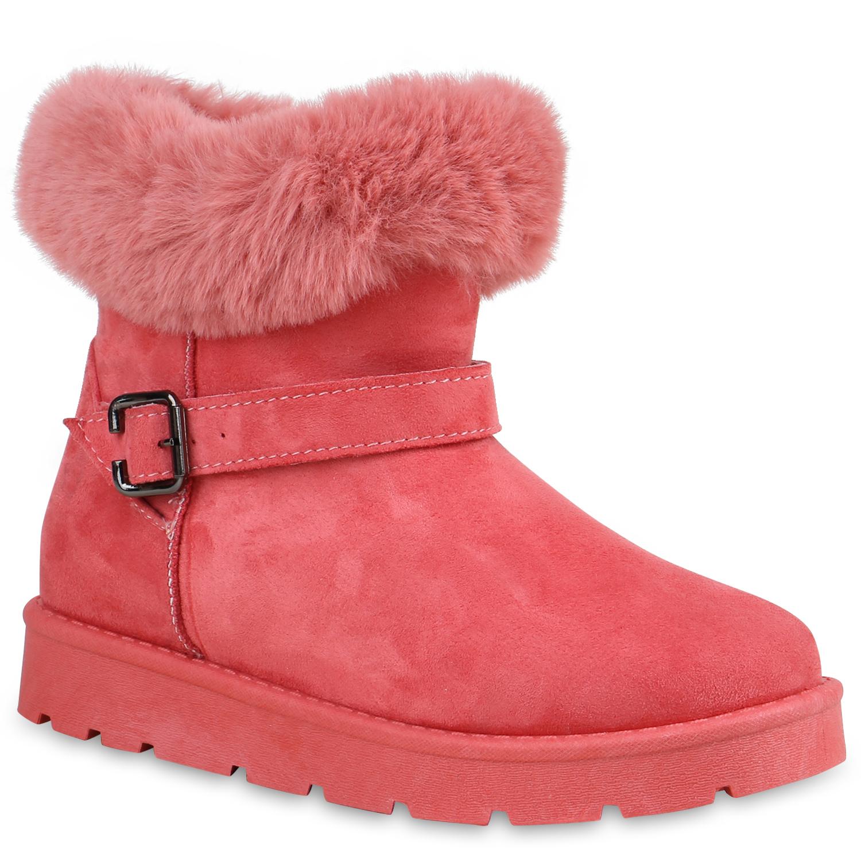 Damen Stiefeletten Schlupfstiefeletten - Pink