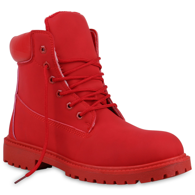 Herren Worker Boots - Rot