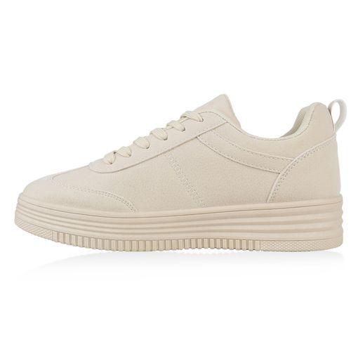 Sneaker Damen Sneaker Creme Damen Damen Low Creme Sneaker Low qpwfII