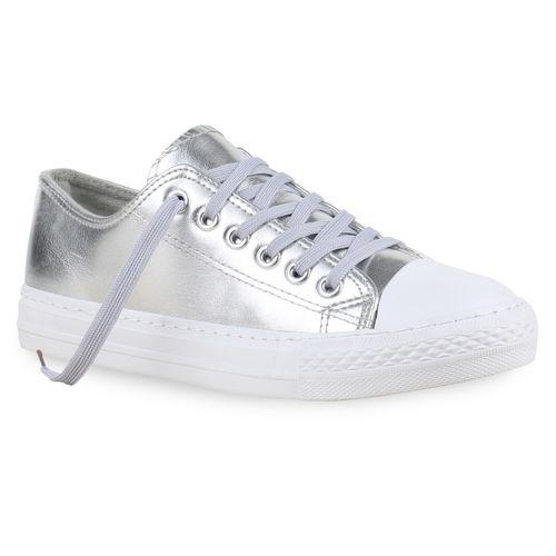 Silber Damen Low Low Damen Silber Damen Sneaker Sneaker 4q0wTEnP