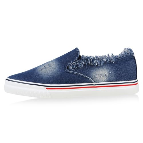 Damen Sneaker Slip Ons - Blau