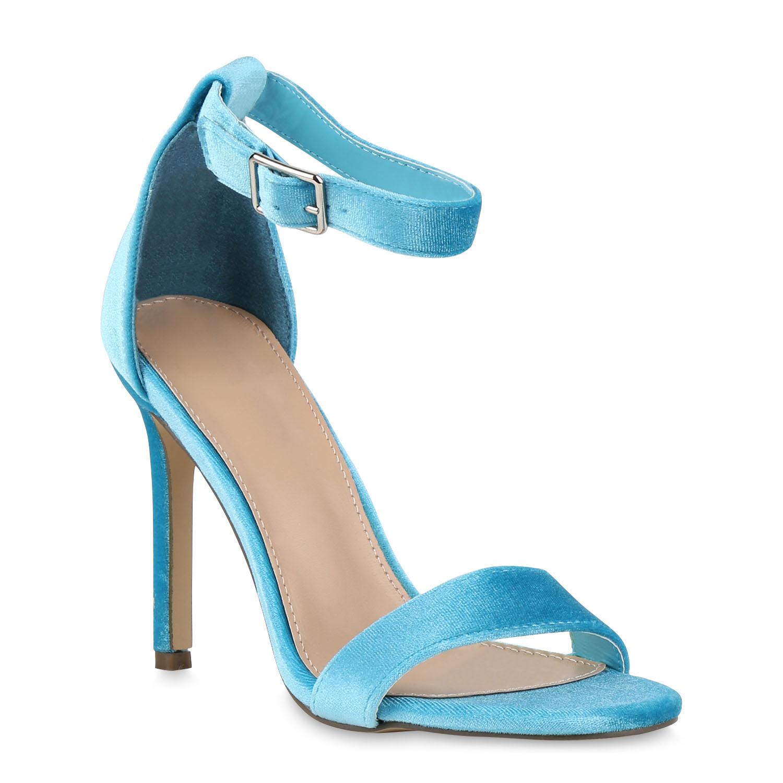 Damen Sandaletten Riemchensandaletten - Türkis