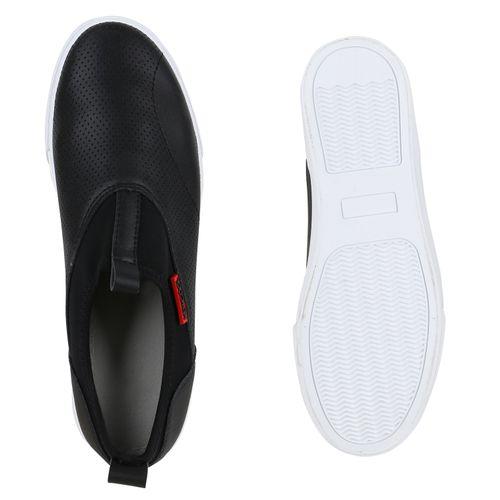 Damen Sneaker Slip Ons - Schwarz