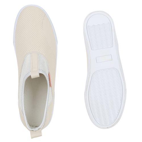 Damen Sneaker Slip Ons - Nude