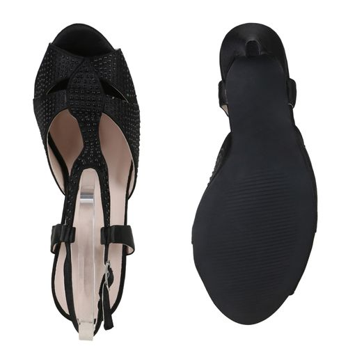 Damen Sandaletten Schwarz Riemchensandaletten Damen Sandaletten 1wqHgBP