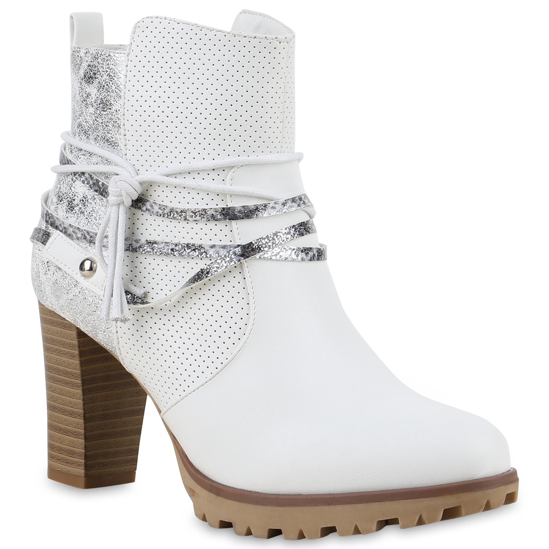 b7c35ac7e88d3d Damen Stiefeletten in Weiß (892183-686) - stiefelparadies.de